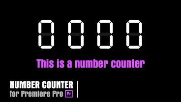 Digital Counter [Counter04] Premiere Pro Template