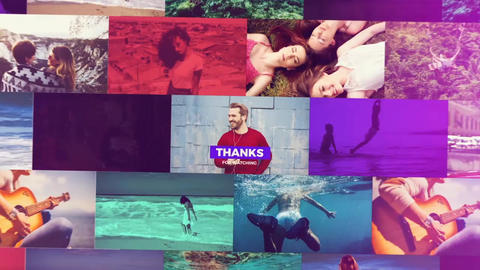 Colorful Mosaic Slideshow After Effects Template