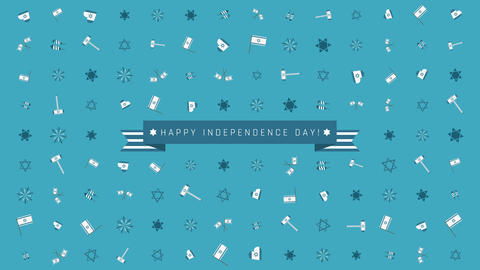 Israel Independence Day holiday flat design animation background Animation