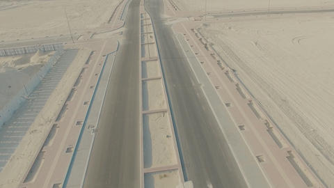 aerial view of large construction in the desert. Dammam North Housing Footage