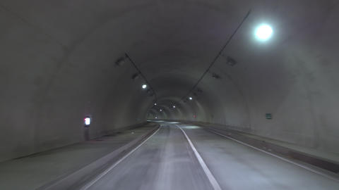 Driving - Scene in the tunnel Left curve Image