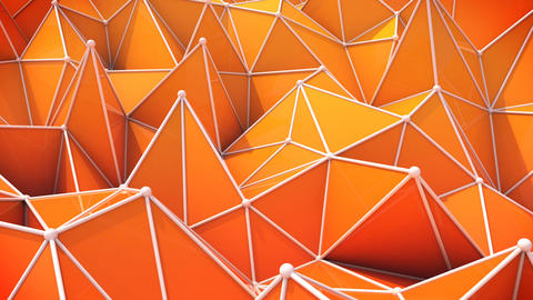 orange triangles. computer generated seamless loop abstract geometrical motion b CG動画