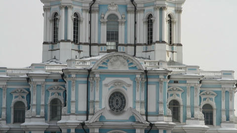 Russia, St. Petersburg. Smolny Cathedral (Church of the Resurrection) Footage