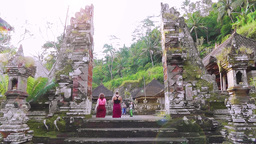 Tourists are in Gunung Kawi Temple,Bali Footage