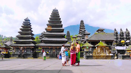 Tourists are in Besakih Temple,Bali Footage