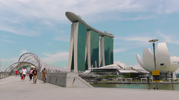 View of Marina Bay Sands,Singapore Archivo