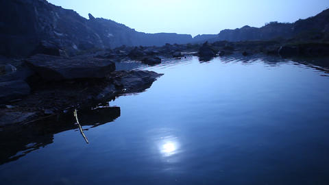 Moon reflection in the water Footage