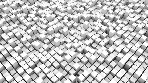 abstact white cubes. 3d rendering backdrop Fotografía