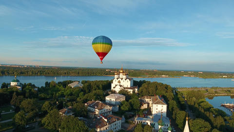 balloon over the city Footage
