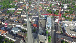 Aerial view of the historic historic WIlli Brodi dome in Wesel, Germany Footage
