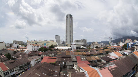 Timelapse tallest building KOMTAR and the UNESCO world heritage building Live Action