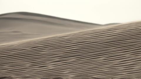 Sand blowing in sand dunes in wind, Sahara desert Footage