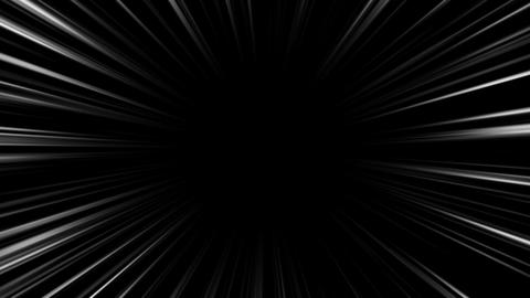 concentration line black and white background CG動画