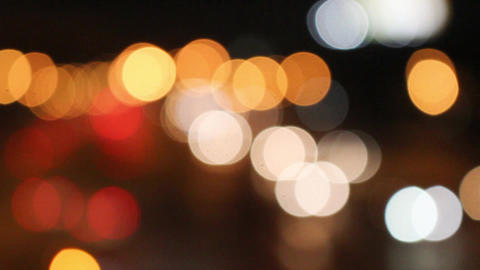 Bokeh Christmas Circular Lighting Celebrating New Year Footage