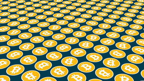 Bitcoin cryptocurrency rotation coins background Animation