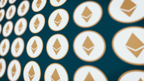 Etherium Cryptocurrency Coins Backgrounds 1