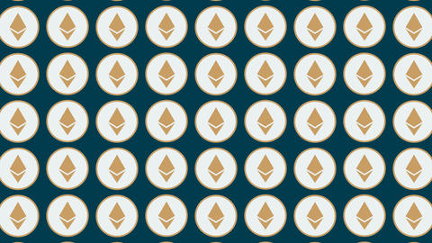 Etherium cryptocurrency vertical traffic coins background Animation