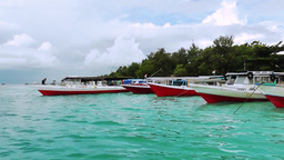 Arriving to Gili Trawangan island Footage