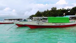 Arriving to Gili Trawangan island Videos de Stock
