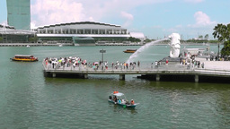 View of Merlion Park,Singapore Archivo