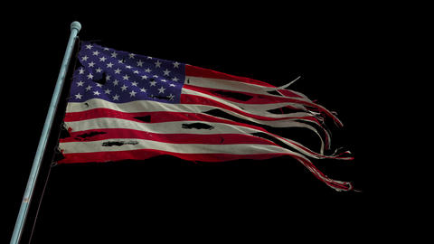 American Flag - Slow Motion stock footage