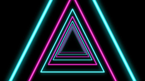 Abstract Triangle Formed Colorful Tunnel Animation