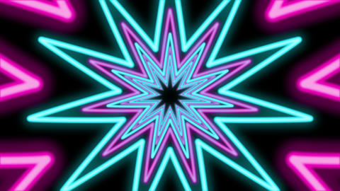 Abstract Eleven Pointed Star Tunnel Animation