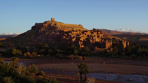 Kasbah Ait Ben Haddou in Morocco, zoom timelapse Footage