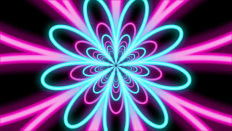 Abstract Colorful Flower Shaped Tunnel Animation