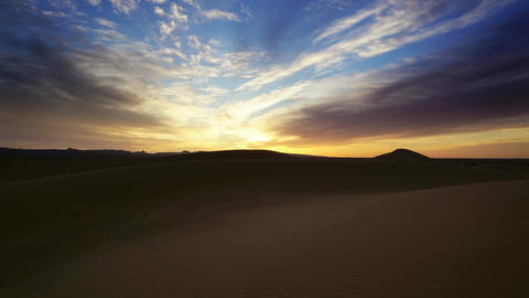 Landscape in Sahara desert at sunrise, timelapse Footage