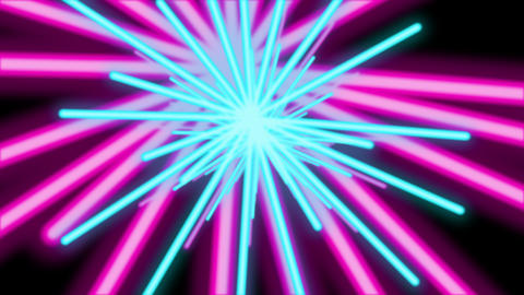 Abstract Colorful Cluster Flower Tunnel Animation