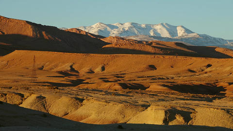 Atlas mountains at sunset, Morocco, Africa Footage