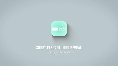 Short Elegant Logo Reveal After Effects Template