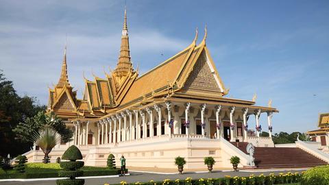 Royal Palace, Phnom Penh, Cambodia ビデオ