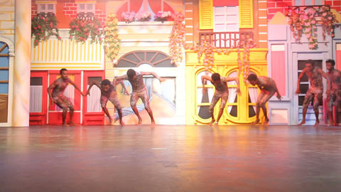 African Acrobats Performance on the stage Footage