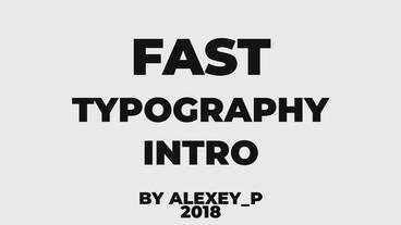 Fast Typography Intro Premiere Pro Template