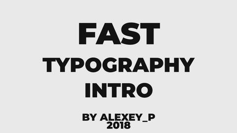 Fast Typography Intro Premiere Proテンプレート