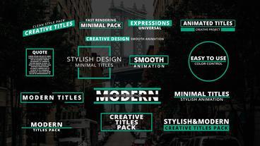 Minimal & Modern Titles 모션 그래픽 템플릿