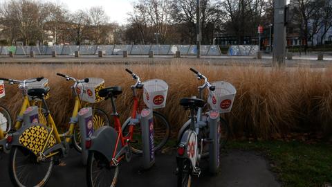 bike rental, Vienna Austria Image