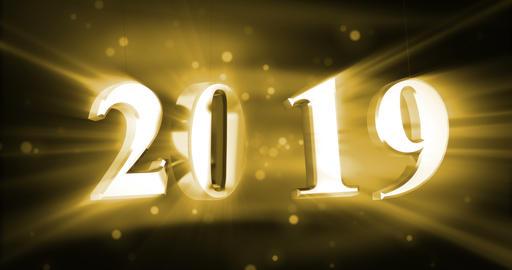 New Year 2019 Animación