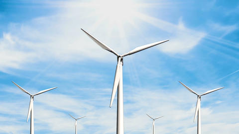 Wind Turbines Animation