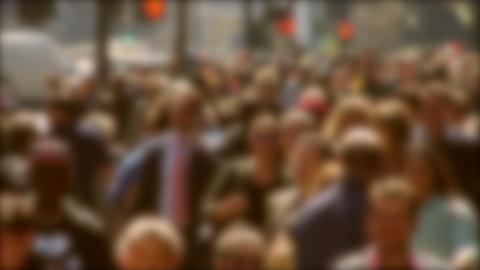 Crowded Street In Defocused Background ビデオ