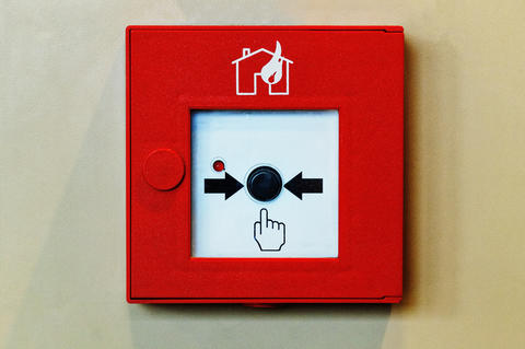 Fire Alarm System Button. Closed-up of Fire alarm press machine フォト