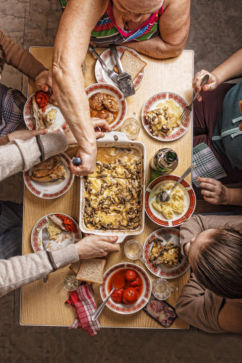 Dining table, turkey, family, Easter, Thanksgiving, Christmas Photo