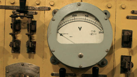 voltmeter on the instrument panel Footage