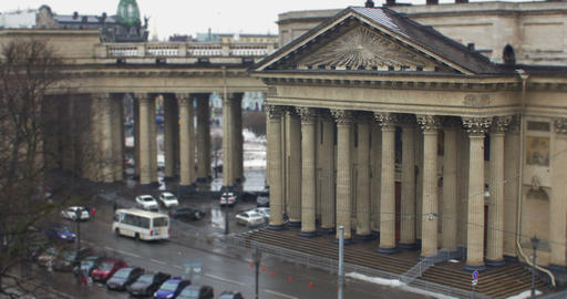 Colonnade and portico of Kazan Cathedral Footage