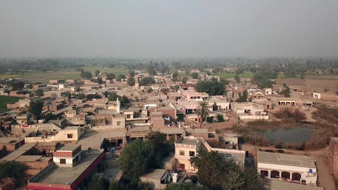 """aerial view of a traditional village """"Hadda"""" in Pakistan Live Action"""