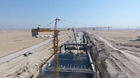 KUWAIT: South Al-Mutlaa City. infrastructure construction Footage