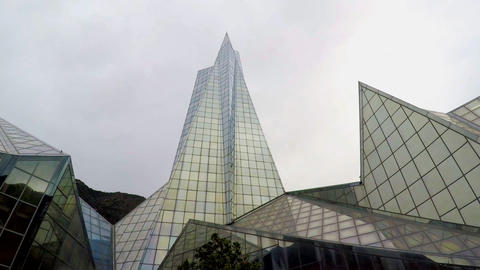 Big Glass Building in the Shape of Pyramid Live Action