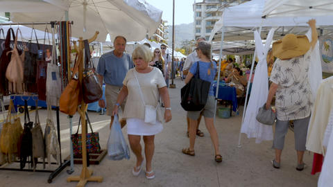 People shopping at the Saturday Market in Puerto Vallarta Image